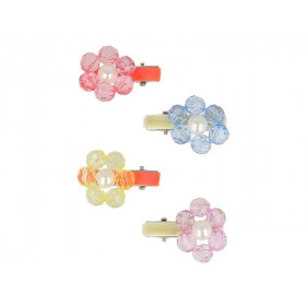 Meri Meri 4 Hair Clips FLOWER JEWEL