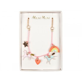 Meri Meri Charm Necklace Unicorns neon