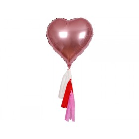 Meri Meri Balloon Kit Hearts pink