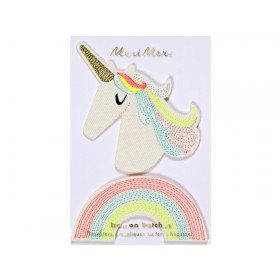 Meri Meri Iron On Patches UNICORN & RAINBOW