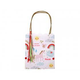 Meri Meri Party Gift Bags Rainbow and Unicorn