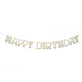 Meri Meri Large Garland Happy Birthday gold