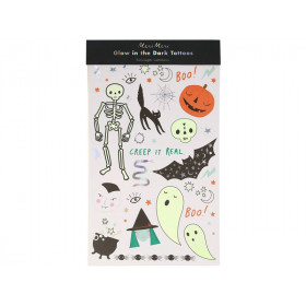 Meri Meri 2 Tattoo Sheets HALLOWEEN GLOW