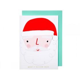 Meri Meri Christmas Card HANGING SANTA