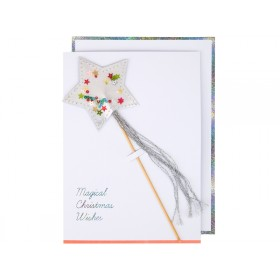 Meri Meri Christmas Card STAR WAND