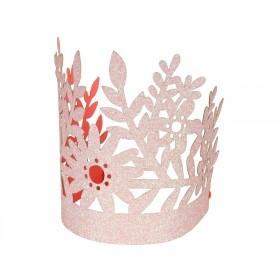 Meri Meri Mini Crowns coral glittered