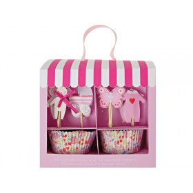 Meri Meri Cupcake Kit BABY SHOWER pink