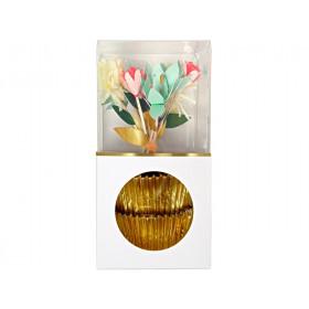 Meri Meri Cupcake Set FLOWER BOUQUET