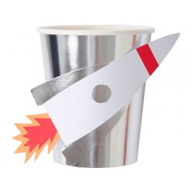 Meri Meri Party Cups SPACE ROCKET