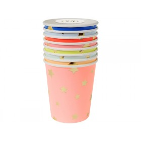 Meri Meri Party Cups STARS pastel