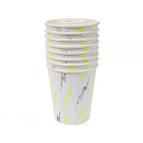 Meri Meri Party Cups Superhero neon