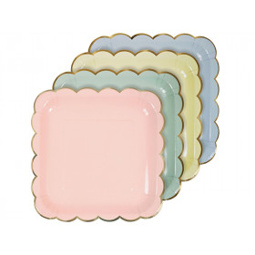 Meri Meri Large Party Plates pastel