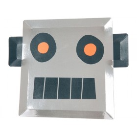 Meri Meri Large Party Plates SPACE ROBOT