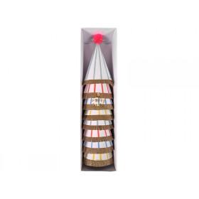 Meri Meri Large Party Hats with Stripes