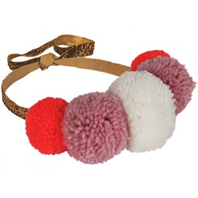 Meri Meri POMPOM CROWN HEADBAND (one size)