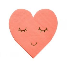 Meri Meri Small Napkins Blushing Hearts