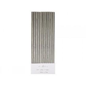 Meri Meri Straws silver foil