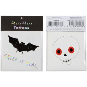 Meri Meri Tattoos BAT & SKULL