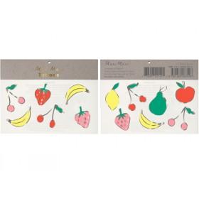 Meri Meri Tattoos Fruits silver