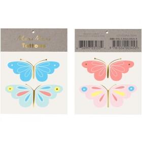 Meri Meri Tattoos Butterflies gold & neon