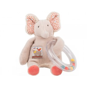 Moulin Roty ring rattle elephant les Papoum