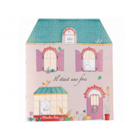 Moulin Roty Colouring Book with Stickers ONCE UPON A TIME