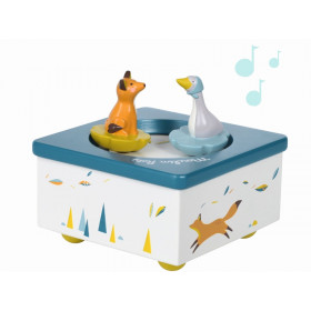 Moulin Roty Musical Box FOX AND GOOSE