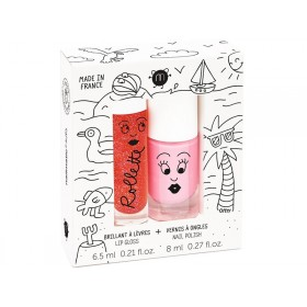 nailmatic kids Lip Gloss + Nail Polish Set HOLIDAYS
