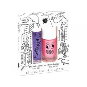 nailmatic kids Lip Gloss + Nail Polish Set LOVELY CITY