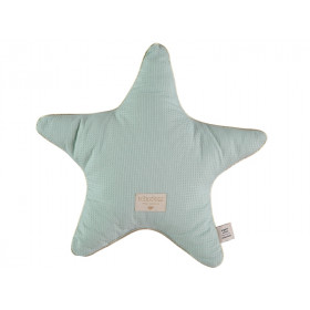 Nobodinoz Star Cushion Aristote Honeycomb AQUA