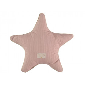 Nobodinoz Star Cushion Aristote Honeycomb MISTY PINK