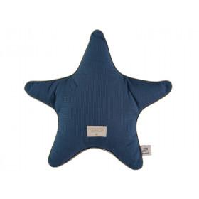 Nobodinoz Star Cushion Aristote Honeycomb NIGHT BLUE