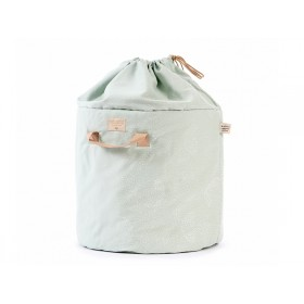 Nobodinoz Bamboo Toy Bag White Bubble AQUA large