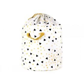 Nobodinoz Baobab Toy Bag SPARKS BLACK HONEY large