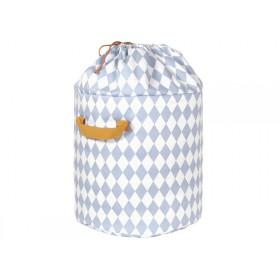 Nobodinoz Baobab Toy Bag Diamonds BLUE large