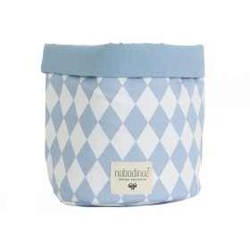 Nobodinoz Mambo Storage Basket BLUE DIAMONDS small