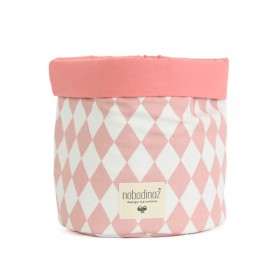 Nobodinoz Mambo Storage Basket PINK DIAMONDS small