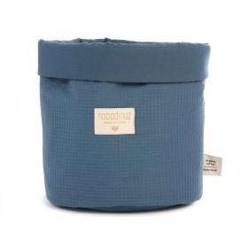 Nobodinoz Panda Storage Basket Honeycomb NIGHT BLUE small