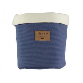 Nobodinoz Tango Storage Basket AEGEAN BLUE small