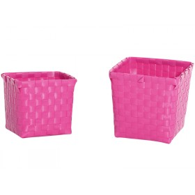 Overbeck and Friends flower baskets pink