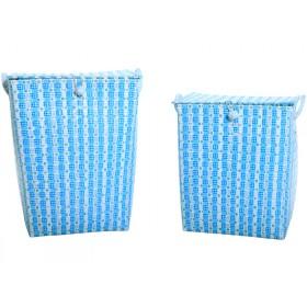 Overbeck laundry basket Leni blue