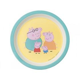 Petit Jour Melamine Plate PEPPA PIG mint