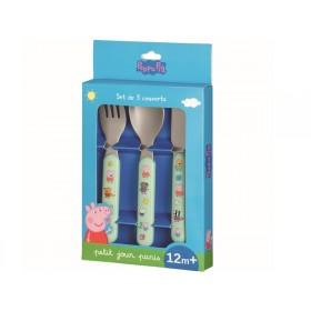 Petit Jour 3-Piece Cutlery Set PEPPA PIG