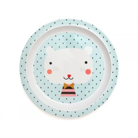 Petit Monkey melamine plate bear drops with border