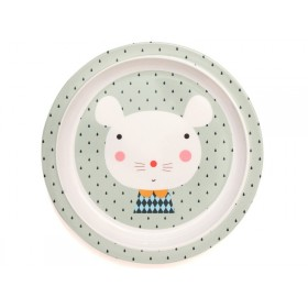 Petit Monkey melamine plate mouse drops with border