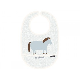 "Baby Bib with front pocket ""On the Farm"" by Petit Jour"