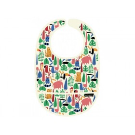 "Baby Bib with front pocket ""In the Jungle"" by Petit Jour"