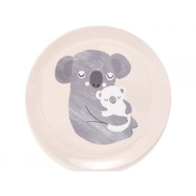 Petit Monkey Melamine Plate KOALA light pink
