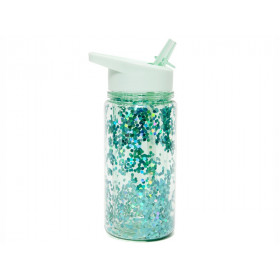 Petit Monkey Water Bottle GLITTER Green
