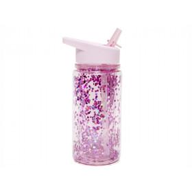 Petit Monkey Water Bottle GLITTER Pink